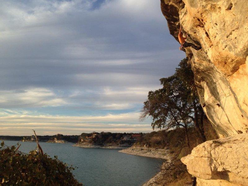 Rock Climbing Photo: A beautiful winter day at Morgan's Point on Captai...