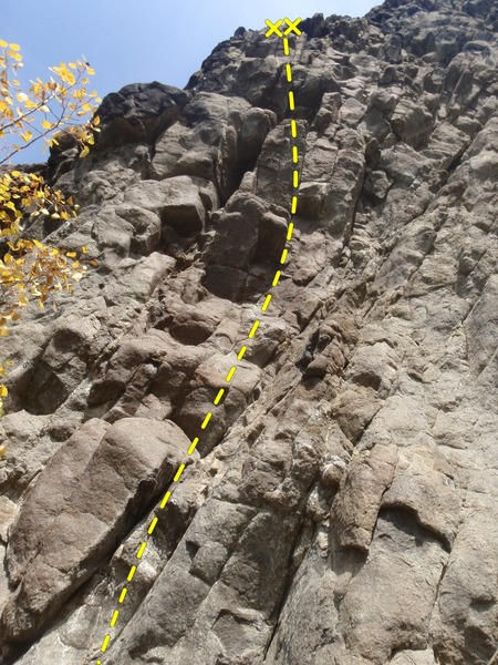 Rock Climbing Photo: Careful of the ramp on your crux clip.