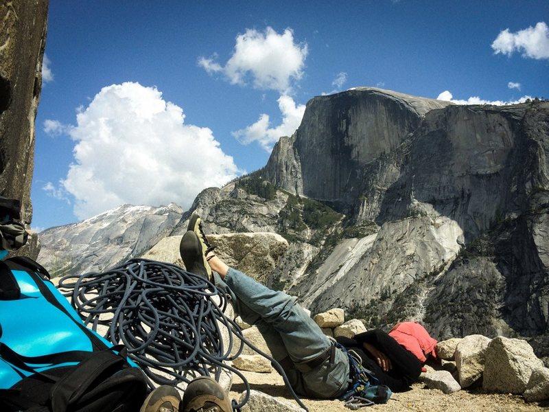 Rock Climbing Photo: Resting on Dinner Ledge