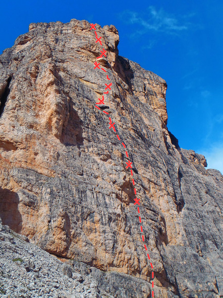 Rock Climbing Photo: Spiz de Mondeval formation