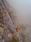 Rock Climbing Photo: Pitch 1 of Love my Dogs on a typical summer 2014 d...