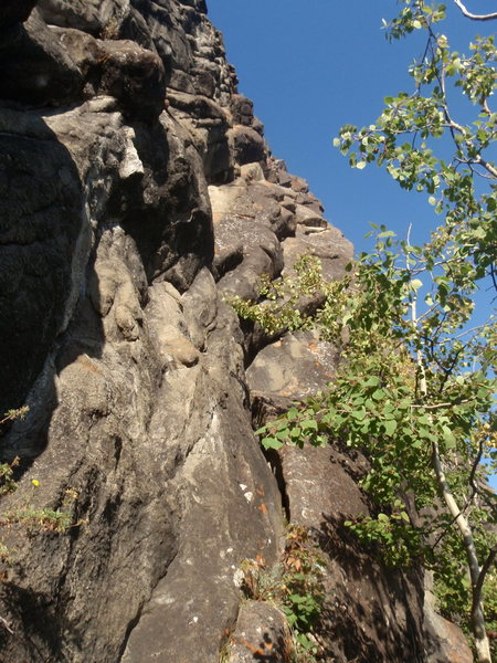 Rock Climbing Photo: Zachs Crack climb the dirty cracks up this right t...
