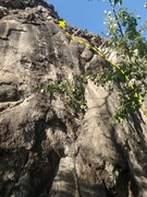 Rock Climbing Photo: Buddhas Delight starts between the ramp and boulde...