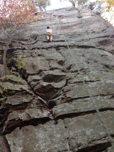 Myself around half way up the route.