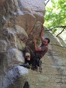 Rock Climbing Photo: Derrick warming up on Extreme Unction