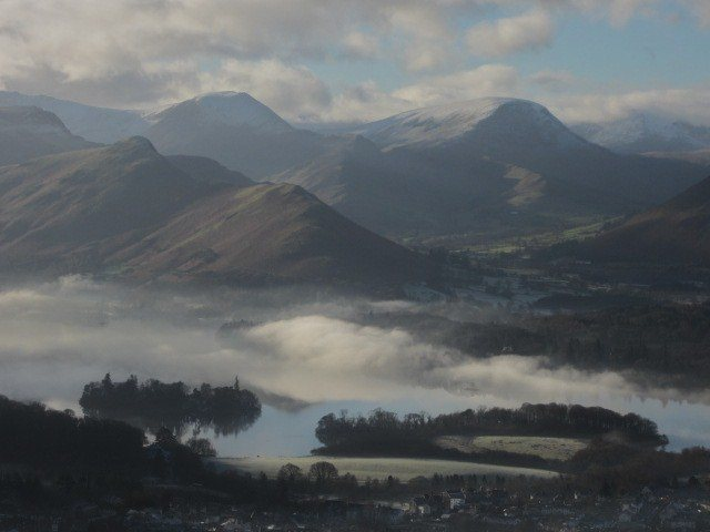 Borrowdale and Newlands valleys .. Misty day December 28th 2014