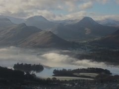 Rock Climbing Photo: Borrowdale and Newlands valleys .. Misty day Decem...