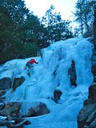 Rock Climbing Photo: The upper pitch of Poverty Gulch. There are mumero...