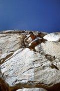 "Rock Climbing Photo: Scott Cole leading the FA of ""Techno-Pig&quot..."