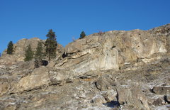 Rock Climbing Photo: Lower South Face with the Turret behind