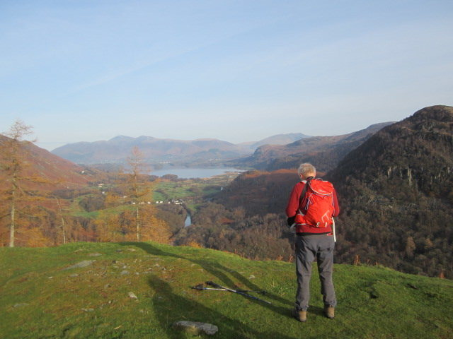 Looking down Borrowdale Valley From Castle Crag towards the town of Keswick