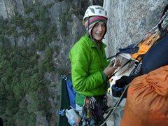 Rock Climbing Photo: Portaledge happy
