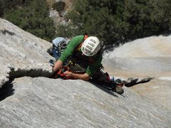 Rock Climbing Photo: Awesome cam jugging somewhere in the middle of Lur...