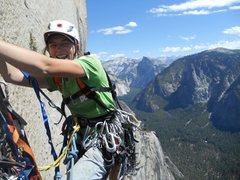 Rock Climbing Photo: High up on New Dawn