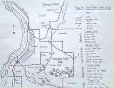 Rock Climbing Photo: Map to Chewiliken Creek Crag