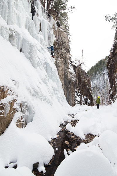 Rock Climbing Photo: Scott, on his first ice climb ever.