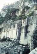 "Rock Climbing Photo: Dave Yerian leading ""Easy Money"" (5.11c)..."