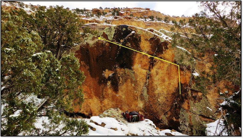 Rock Climbing Photo: Sur Les Pointes problem beta.