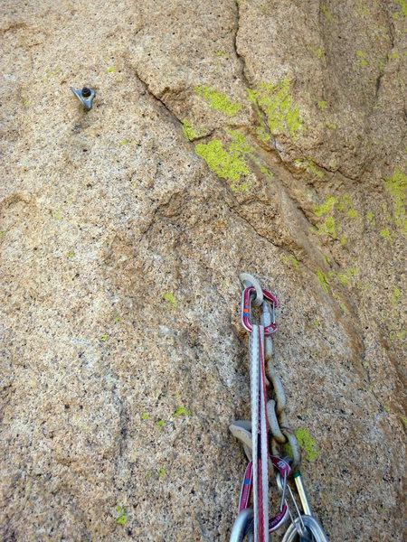 "Rock Climbing Photo: 3/8"" split shaft with stainless Metolius hang..."