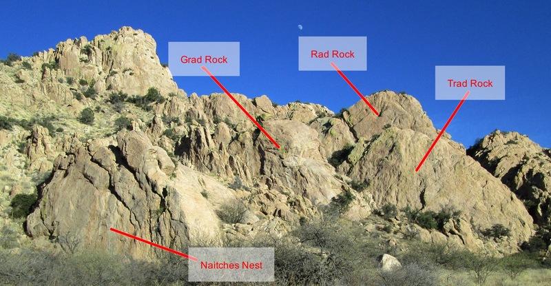 Rock Climbing Photo: Naiches Nest and surrounding rocks