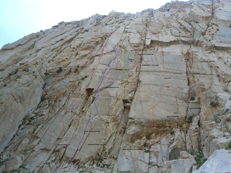 Rock Climbing Photo: Bighorn Left Side Routes