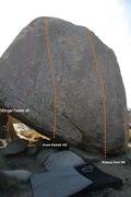 Rock Climbing Photo: leftmost line