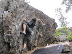 "Rock Climbing Photo: the ""kidney bean's lower traverse"""