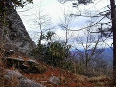 Rock Climbing Photo: View from Lunch Ledge at top of Jim Dandy.
