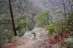 Rock Climbing Photo: Bradley Falls overlook. Potential point for rappel...