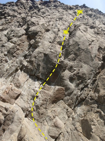 Rock Climbing Photo: This crack is a monster.