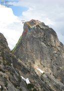 Rock Climbing Photo: Kangaroo Temple, North Face