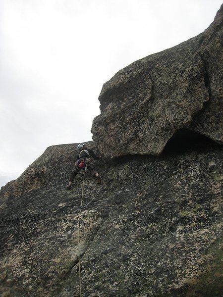 nearing the summit ridge on the optional P4
