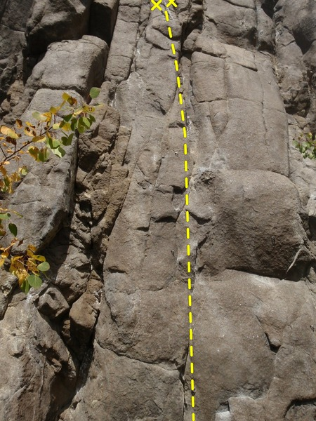 Bring you game face and boulder skills to try and make it up this route.