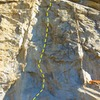 Leviathan - 5.11d, Riverside Quarry<br>