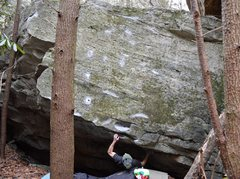 Rock Climbing Photo: Parlier working out to the pocket on Ambi-turner (...