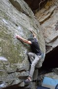 Rock Climbing Photo: Parlier on the FA (and on the mono) for Mugatu Mon...