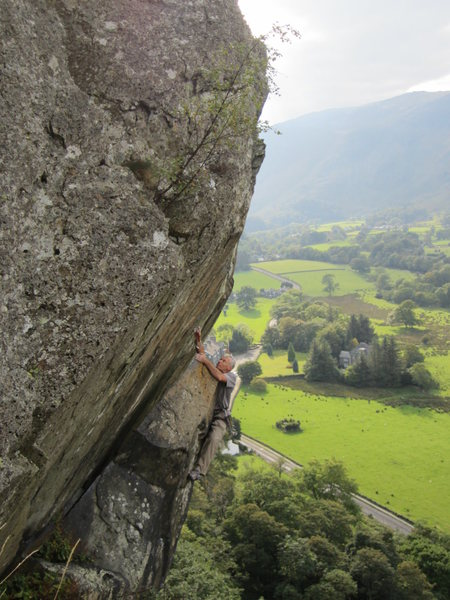 Rock Climbing Photo: The Bludgeon Sheperds Crag Borrowdale
