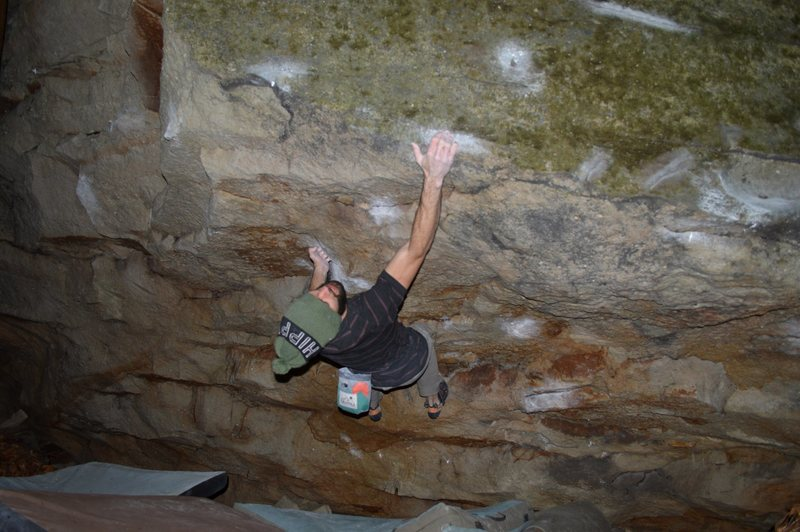 Rock Climbing Photo: Parlier shooting from under the roof for the good ...