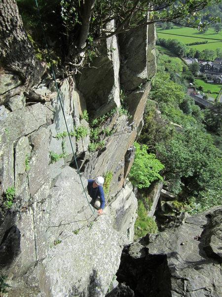 Alf Wilson Derision Groove  Shepherds Crag  Borrowdale