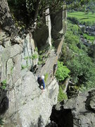 Rock Climbing Photo: Alf Wilson Derision Groove  Shepherds Crag  Borrow...