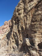 Rock Climbing Photo: Looking at the three lines on the left. Cool featu...
