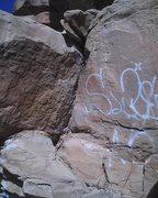 Rock Climbing Photo: Graffiti / start to Nice Line.