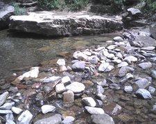 Rock Climbing Photo: Low water.