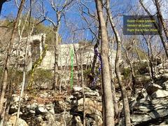 Rock Climbing Photo: Patriot Wall - Super Crack Area Topo