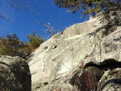 Rock Climbing Photo: A better look at the upper part of Right Hand Man