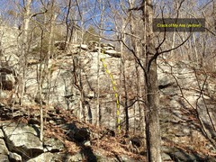 Rock Climbing Photo: Lower right part of Patriot Wall