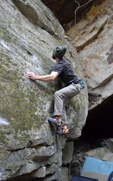 "Rock Climbing Photo: Parlier on the FA of ""Mugatu Mono"""