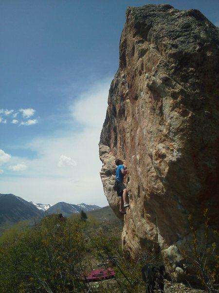 Rock Climbing Photo: Logan Matthews starting out on Blunt Boy.