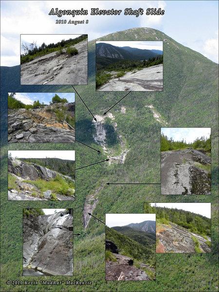 Algonquin Peak's Elevator Shaft Slide. The base of this is Caribou Falls (NE3) during the winter.
