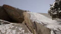 Rock Climbing Photo: Schoolroom roof ice